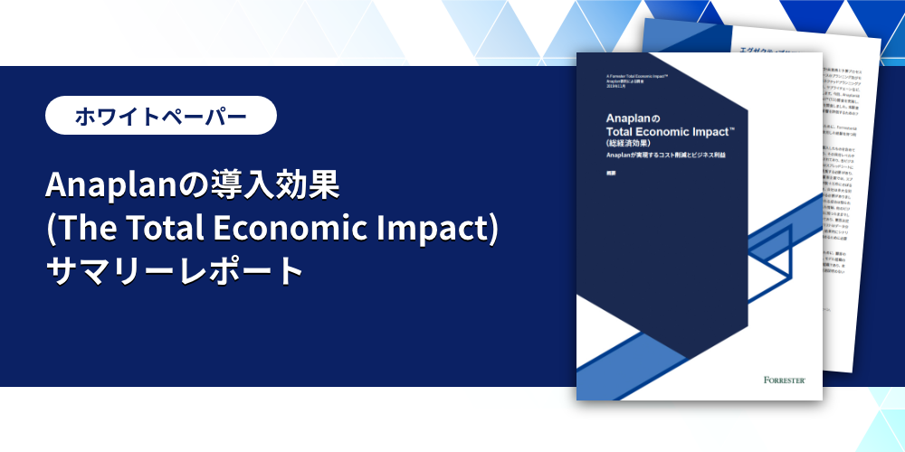 Anaplanの導入効果 (The Total Economic Impact) サマリーレポート