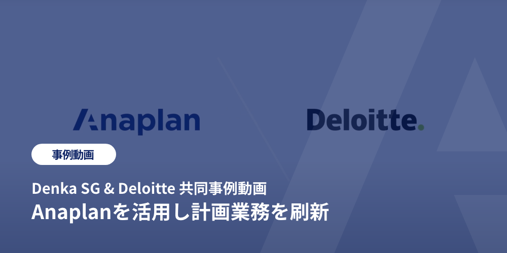 Anaplanを活用し計画業務を刷新
